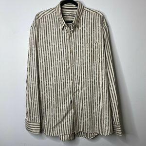 Tommy Bahama Mens Long Sleeve Stripe Collar  XXL